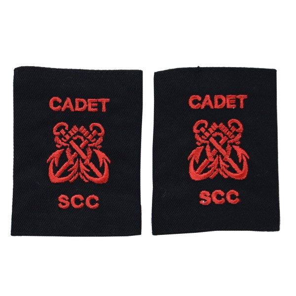 Petty Cadet Officer - Twin Foulded Anchor - Slider Epaulette - Sea Cadet Corps (SCC)