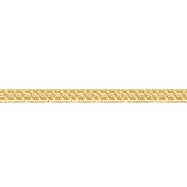 10mm – Gold – Metallised Polyester – B & S Lace