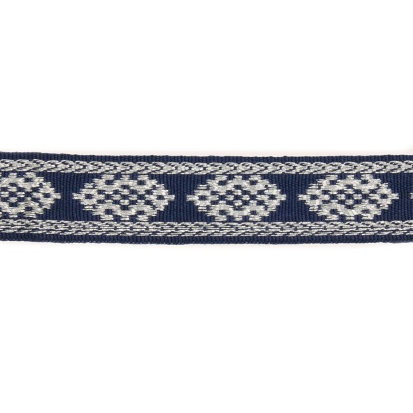 12mm – Blue - Silver – Cotton - Metalised Polyester – Composite Lace