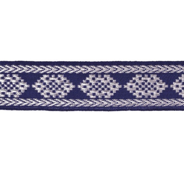 17mm – Blue - Silver – Cotton - Metalised Polyester  – Composite Lace
