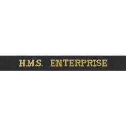HMS Enterprise Cap Tally - Royal Navy