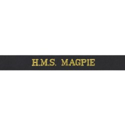 HMS Magpie Cap Tally - Royal Navy