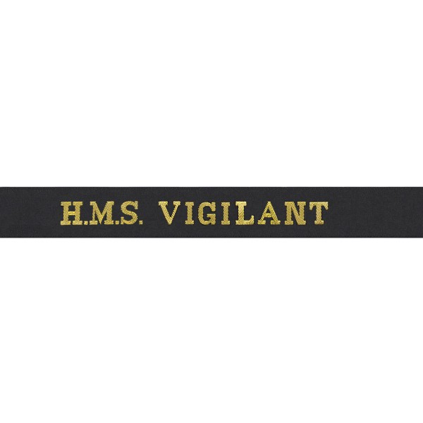 HMS Vigilant Cap Tally - Royal Navy