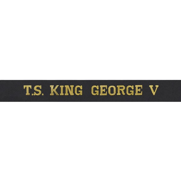 T.S. King George V - Cap Tally - Royal Navy