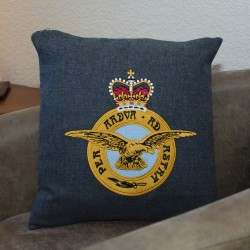 Royal Air Force (RAF) - Embroidered Military Cushion