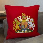 Royal Coat of Arms - Hand Embroidered Military Cushion - Life Guards