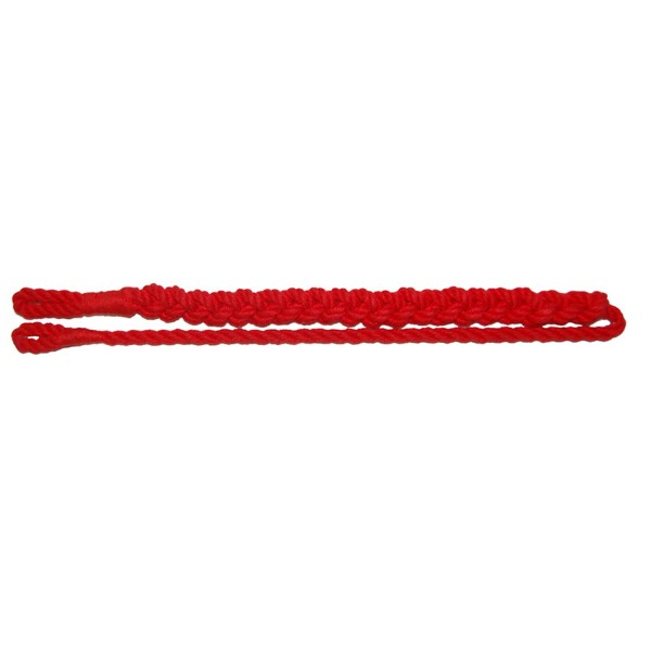 RAF Police Course Leaders Single Plait Red Lanyard