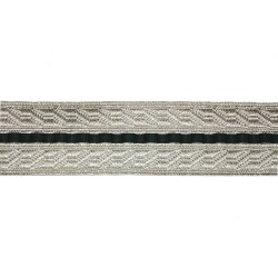 25mm Silver and Green Composite B&S Lace
