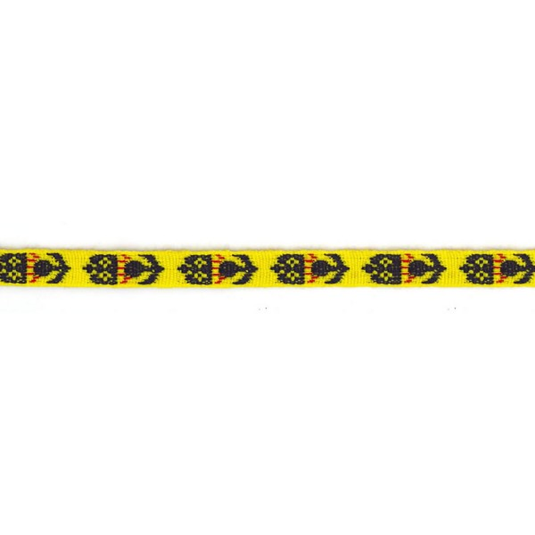 16mm – Thistle and Crown - Yellow, Blue and Red – Worsted – Drummers Lace
