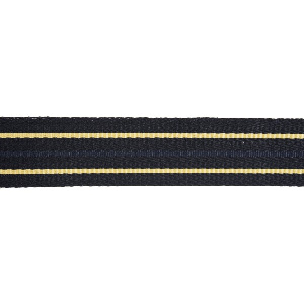 32mm Canadian 2 Bar Black/Gold/Navy Cotton Ranking Lace