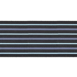 70mm - Group Captain (CAPT) - Black with blue stripe - Royal Air Force Rank Braid