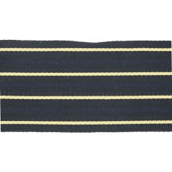 72mm Canadian 4 Bar Black/Gold/Navy Cotton Ranking Lace