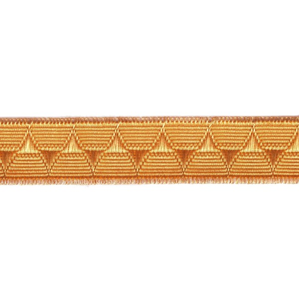 25mm – 2% Gold – Diamond and Point Lace / Scallop Lace