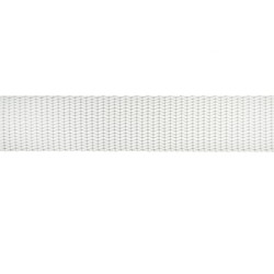 25mm – White– Polypropylene – Double Plain Weave - Webbing