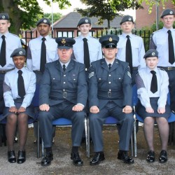 Junior RAF cadet enrolling ceremony
