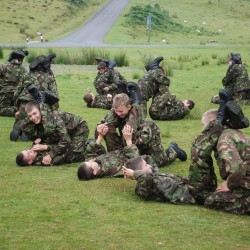 Royal Marines Cadets on Physical Training Exercise