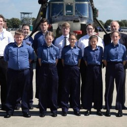 Sea Cadets visit Royal Navy Commando Helicopter Force